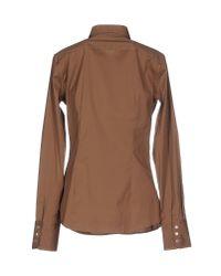 Mauro Grifoni - Brown Shirt - Lyst