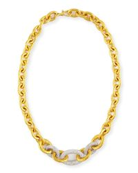 Gurhan | Metallic 24k Tapered Galahad Necklace With Diamonds | Lyst