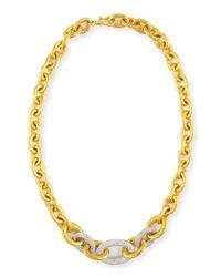 Gurhan - Metallic 24k Tapered Galahad Necklace With Diamonds - Lyst