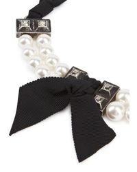 Lanvin - Black Perles Royales Short Faux Pearl Necklace - Lyst