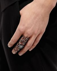 Staurino Fratelli - Moresca Blackened White Gold & Diamond Ring - Lyst