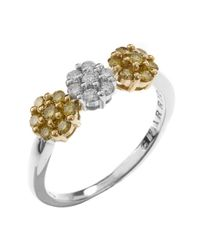 Charriol | Metallic Women's 18k White And Yellow Gold Diamond Ring | Lyst