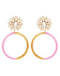 Shourouk - Pink Zulu Clipon Earrings - Lyst