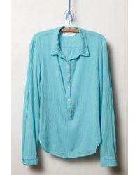 Velvet By Graham & Spencer - Blue Mie Gauze Shirt - Lyst