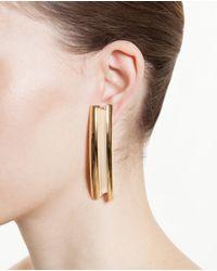 Loewe   Metallic Gold Plated Single Earring   Lyst