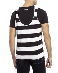 Moschino | Black Stripe Tank Tee for Men | Lyst