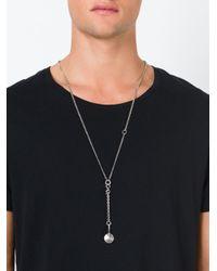 Ann Demeulemeester   Metallic Metal Disc Pendant Necklace for Men   Lyst