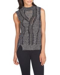 1.STATE | Gray Marled Sleeveless Sweater | Lyst