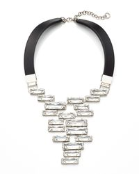 Lafayette 148 New York | Metallic Swarovski® Crystal Drop Cluster Necklace | Lyst