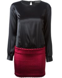 Christian Pellizzari - Black Contrasting Top And Bottom Dress - Lyst