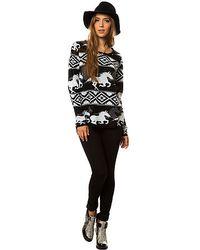 RVCA   White The Buddy Wild Horse Sweater   Lyst