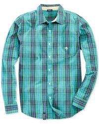 LRG | Blue Rc Plaid Shirt for Men | Lyst