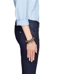 Venna | Green Crystal Spike Chunky Bracelet | Lyst