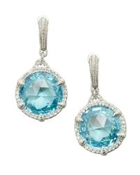 Judith Ripka | Sky Blue Crystal 'eclipse' Drop Earrings | Lyst