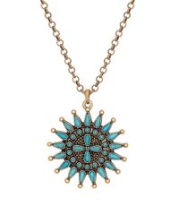 Lucky Brand | Metallic Squash Blossom Pendant Necklace | Lyst