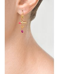 Delfina Delettrez - Purple Goldenamelruby Single Earring - Lyst