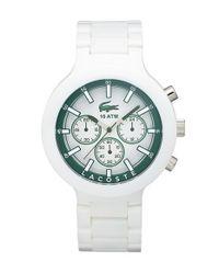 Lacoste - Green 'borneo' Chronograph Bracelet Watch for Men - Lyst