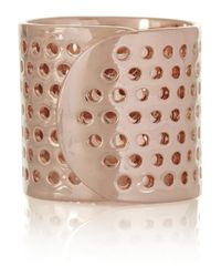 Jennifer Fisher | Pink Bandaid Rose Goldplated Ring | Lyst