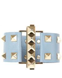 Valentino | Gray Grey Rock Stud Bracelet | Lyst