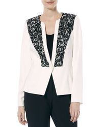 Laundry by Shelli Segal | White Lace-paneled Jacket | Lyst