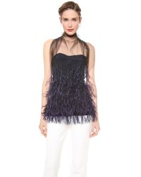 Wes Gordon - Blue Feathered Flou Top - Lyst