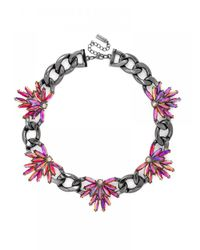 BaubleBar | Metallic Pink Feather Curb Collar | Lyst