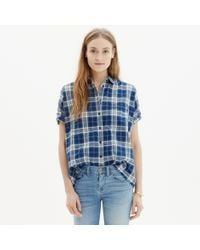 Madewell - Courier Shirt In Blue Plaid - Lyst