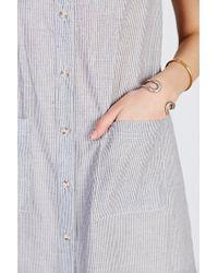 BDG | Gray Voile Maxi Shirt Dress | Lyst