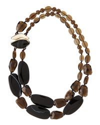 Alexis Bittar | Black Double-Layer Smoky Quartz Necklace | Lyst
