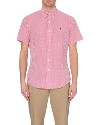 Ralph Lauren | Pink Gingham-print Regular Shirt for Men | Lyst