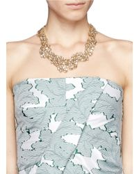 St. John - Metallic 'night Bloom' Laurel Crystal Collar Necklace - Lyst