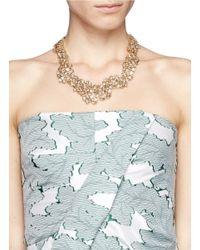 St. John | Metallic 'night Bloom' Laurel Crystal Collar Necklace | Lyst