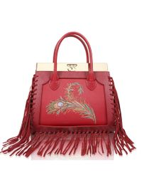 Dee Ocleppo - Roma Medium Tote In Ruby Red - Lyst