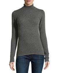 Neiman Marcus - Natural Cashmere Turtleneck Sweater - Lyst