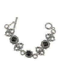Konstantino - Black Silver & Onyx Double-griffin Link Bracelet - Lyst