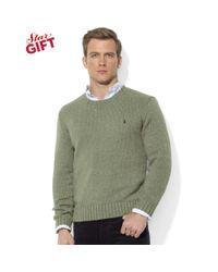 Ralph Lauren - Green Crew Neck Cotton Pullover for Men - Lyst