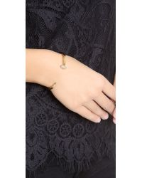 Giles & Brother - Metallic Skinny Railroad Spike Pave Bracelet - Gold/clear - Lyst
