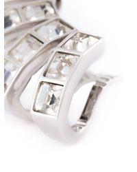 Ca&Lou   Metallic Glass Multiple Cuff Earrings   Lyst