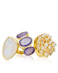 Pippa Small | Metallic Herkimer Diamond Invisible Set Ring | Lyst