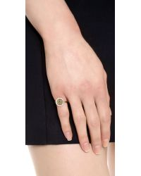 Elizabeth and James | Metallic Bauhaus Pyramid Stacking Pave Ring | Lyst