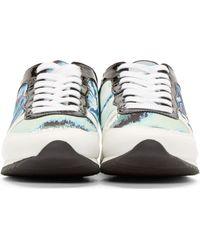 KENZO - Green Mint Tiger Print Sneakers - Lyst