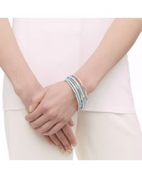 John Hardy - Blue Bamboo Bangles, Set Of 5 - Lyst
