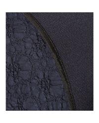 Nina Ricci - Blue Jacquard Jacket With Peplum - Lyst