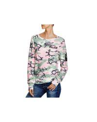 Wildfox - Pink Major Camouflage Sweatshirt - 100% Bloomingdale's Exclusive - Lyst