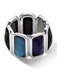 Ippolita - Blue Wonderland Quartz & Mother-of-pearl/pyrite Brick Ring - Lyst
