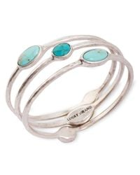 Lucky Brand | Blue Three Bangle Bracelet Set | Lyst