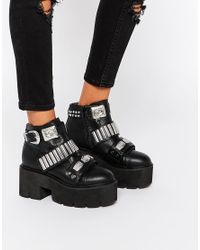 ASOS - Black Extreme Chunky Hardware Ankle Boots - Lyst