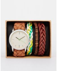 ASOS | Multicolor Watch And Bracelet Pack for Men | Lyst