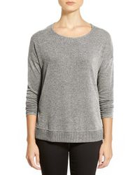 Gibson | Gray High/low Crewneck Sweater | Lyst