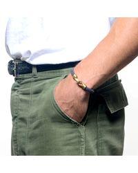 Lulu Frost | Metallic George Frost G. Frost Harpoon Bracelet Navy for Men | Lyst
